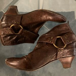 Brown Frye Ankle Boot